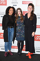 Rosalind Eleazar, Philippa Coulthard &amp; Bessie Carter at the &quot;Howard's End&quot; screening held at the BFI NFT South Bank, London, UK. <br /> 01 November  2017<br /> Picture: Steve Vas/Featureflash/SilverHub 0208 004 5359 sales@silverhubmedia.com
