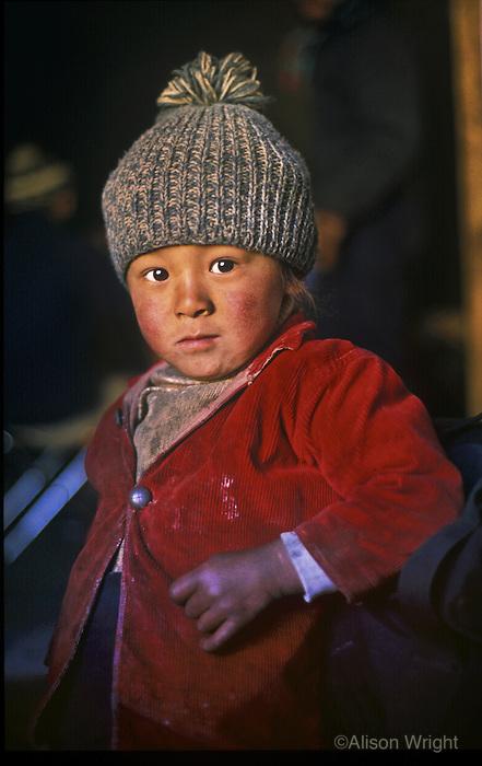 Sherpa boy in Solu Khumbu, Nepal, 1999