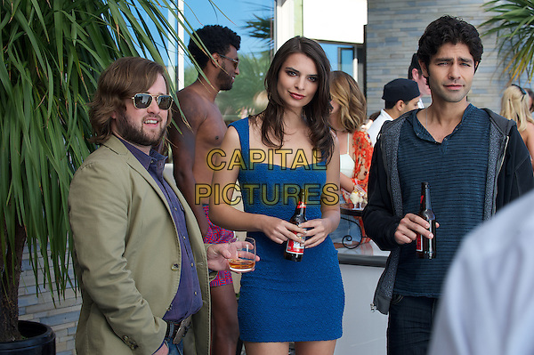 HALEY JOEL OSMENT as Travis McCredle, EMILY RATAJKOWSKI as herself and ADRIAN GRENIER as Vince in Warner Bros. Pictures,' Home Box Office's and RatPac-Dune Entertainment's comedy &quot;ENTOURAGE,&quot; a Warner Bros. Pictures release.<br /> *Filmstill - Editorial Use Only*<br /> CAP/NFS<br /> Image supplied by Capital Pictures