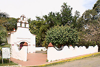 Ermita del Rosario church in La Antigua, Veracruz, Mexico. One of the oldest churches in the Americas.The village of La Antigua dates back to 1525. Hernan Cortes reportedly scuttled his ships here before marching inland to conquer the Aztecs.