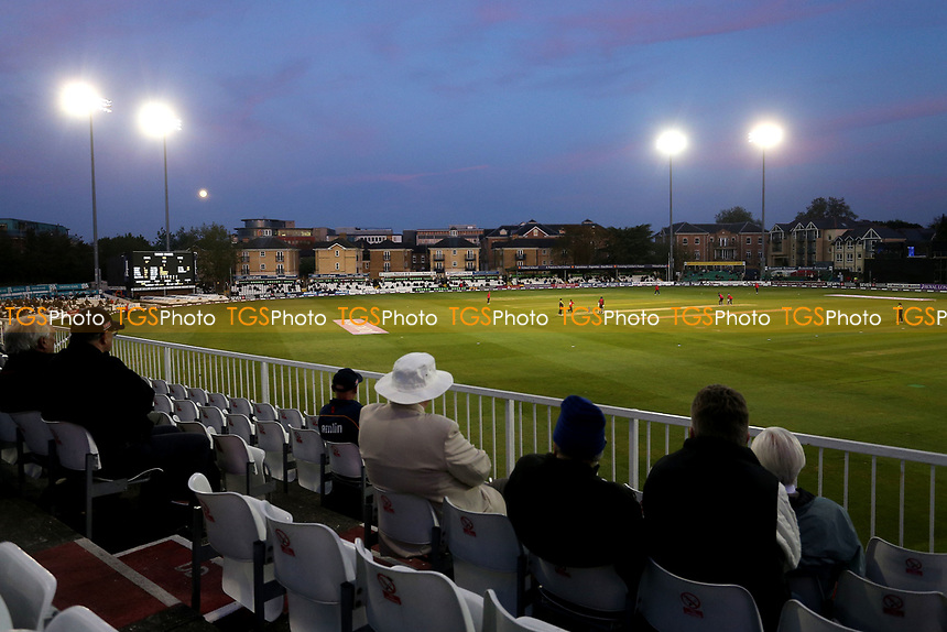 General view of play under the floodlights during Essex Eagles vs Sussex Sharks, Royal London One-Day Cup Cricket at The Cloudfm County Ground on 10th May 2017