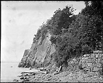 Frederick Stone negative. Cliffs Lighthouse, more commonly known as 'Palisades'.<br />