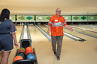 Amos Himmelstein, Vice President and Chief Operating Officer<br /> Incoming first-years participating in MSI bowl with members of senior staff at All Star Lanes bowling alley in Eagle Rock, July 27, 2018.<br /> The Multicultural Summer Institute (MSI) is a four-week academic/residential program for approximately 50 incoming first-year students who represent a variety of ethnic, regional and cultural backgrounds. Through MSI, Occidental College introduces its student body to the social, cultural and intellectual resources of Southern California, and familiarizes students with the Oxy community and surrounding Los Angeles area.<br /> (Photo by Marc Campos, Occidental College Photographer)