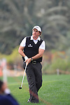 Phil Mickelson playing his second shot on the 9th tee on day two of the Abu Dhabi HSBC Golf Championship 2011, at the Abu Dhabi golf club, UAE. 21/1/11..Picture Fran Caffrey/www.golffile.ie.
