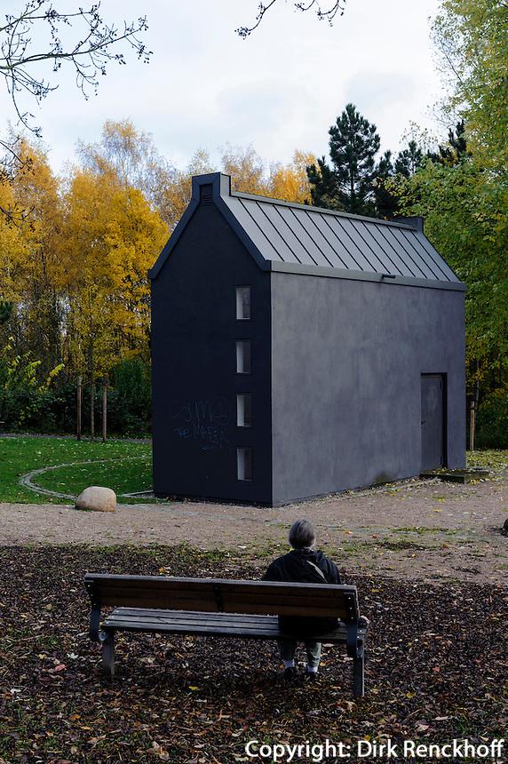 Denkmal Hamburger Feuersturm in Rothenburgsort erbaut von Volker Lang 2003 zur Erinnerung an die Bombardierung 1943, Hamburg, Deutschland