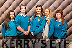 The Tralee Parishes Transition Year  Day  held at Ballyroe Hotel on Tuesday Pictured l-r Ali Feely, Pearse O Brien, Michaela Cheshire, Avril Fitzgerald  Ciara O Mahony from Mercy Mounthawk