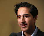 """Maulik Pancholy during the Second Stage Theater presents """"Grand Horizons"""" at the Marquis Hotel on December 11, 2019 in New York City."""
