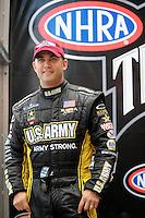 Nov. 2, 2008; Las Vegas, NV, USA: NHRA top fuel dragster driver Tony Schumacher prior to the Las Vegas Nationals at The Strip in Las Vegas. Mandatory Credit: Mark J. Rebilas-