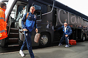 30th September 2017, The Hawthorns, West Bromwich, England; EPL Premier League football, West Bromwich Albion versus Watford; Richarlison of Watford arrives on the Watford coach
