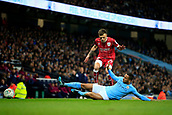 9th January 2018, Etihad Stadium, Manchester, England; Carabao Cup football, semi-final, 1st leg, Manchester City versus Bristol City; Jamie Paterson of Bristol City is challenged by Danilo of Manchester City