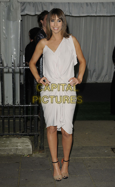 Alex Jones.The Glamour Women Of The Year Awards 2012, Berkeley Square Gardens, Berkeley Square, London, England..May 29th, 2012.full length white dress hands on hips.CAP/CAN.©Can Nguyen/Capital Pictures.