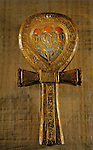 Ankh shaped mirror case, Tutankhamun and the Golden Age of the Pharaohs, Page 259