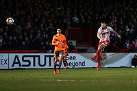 Danny Newton of Stevenage goes close to a goal during Stevenage vs Reading, Emirates FA Cup Football at the Lamex Stadium on 6th January 2018