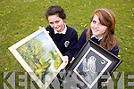 Presentation Secondary students Tralee Aneta Gaxhaan and Czara Casey will hold their first art exhibition  in St. John's Pastoral Centre, Tralee as part of their Junior entrepreneur Programme business.