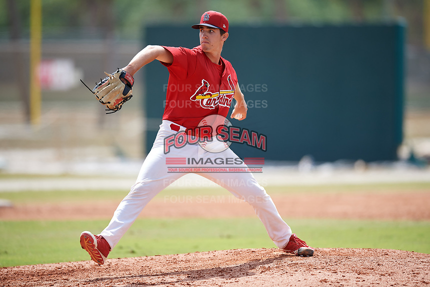 St. Louis Cardinals pitcher Jacob Patterson (15) during a Minor League Spring Training game against the Miami Marlins on March 26, 2018 at the Roger Dean Stadium Complex in Jupiter, Florida.  (Mike Janes/Four Seam Images)