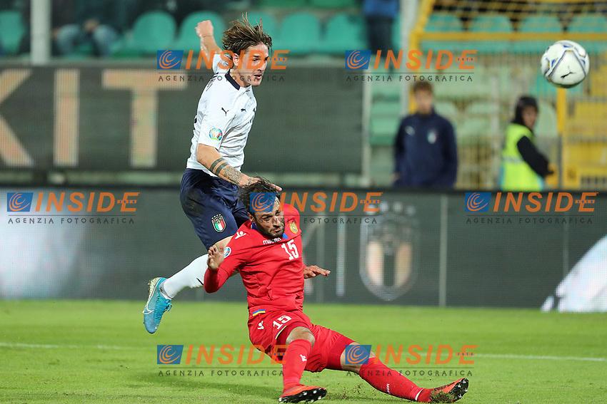 Italy's Nicolo' Zaniolo scores a goal <br /> Palermo 18-11-2019 Stadio Renzo Barbera <br /> UEFA European Championship 2020 qualifier group J <br /> Italy - Armenia <br /> Photo Carmelo Imbesi / Insidefoto
