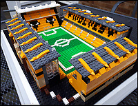 Lego nut builds every footy stadium.