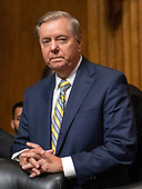 United States Senator Lindsey Graham (Republican of South Carolina) prior to the US Senate Committee on the Judiciary holding a vote on the nomination of Judge Brett Kavanaugh to be Associate Justice of the US Supreme Court to replace the retiring Justice Anthony Kennedy on Capitol Hill in Washington, DC on Friday, September 28, 2018.  If the committee votes in favor of Judge Kavanaugh then it goes to the full US Senate for a final vote.<br /> Credit: Ron Sachs / CNP<br /> (RESTRICTION: NO New York or New Jersey Newspapers or newspapers within a 75 mile radius of New York City)
