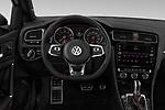 Car pictures of steering wheel view of a 2018 Volkswagen Golf GTI SE 5 Door Hatchback