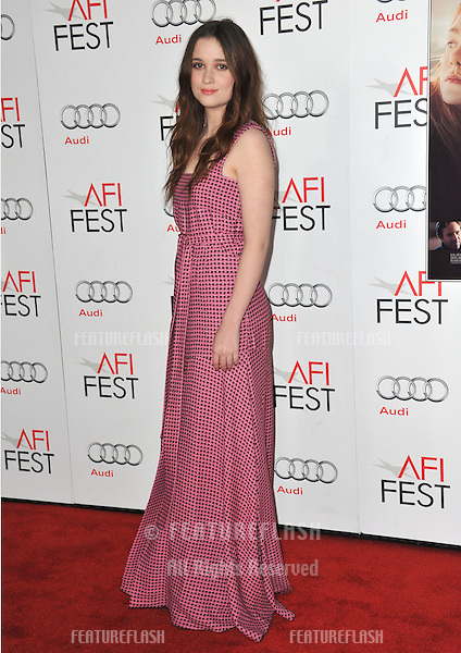 "Alice Englert at the AFI Fest 2012 premiere of her movie ""Ginger and Rosa"" at Grauman's Chinese Theatre, Hollywood..November 7, 2012  Los Angeles, CA.Picture: Paul Smith / Featureflash"