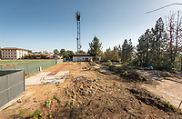 Occidental College construction begins on the Ranier De Mandel Aquatic Center and Townsend-Crosthwaite Pool, Oct. 12, 2017.<br /> (Photo by Marc Campos, Occidental College Photographer)