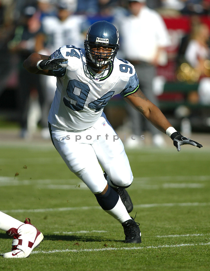 Bryce Fisher, of the Seattle Seahhawks, in action during their game against the  San Francisco 49ers on November 11, 2005.  .Rob Holt / SportPics..Seahawks  win 27-25