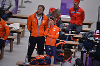 OLYMPIC GAMES: PYEONGCHANG: 16-02-2018, Gangneung Oval, Long Track, 5.000m Ladies, Remmelt Eldering (coach), Esmee Visser (NED), ©photo Martin de Jong