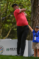 Jon Rahm (ESP) watches his tee shot on 16 during round 3 of the World Golf Championships, Mexico, Club De Golf Chapultepec, Mexico City, Mexico. 2/23/2019.<br /> Picture: Golffile | Ken Murray<br /> <br /> <br /> All photo usage must carry mandatory copyright credit (© Golffile | Ken Murray)