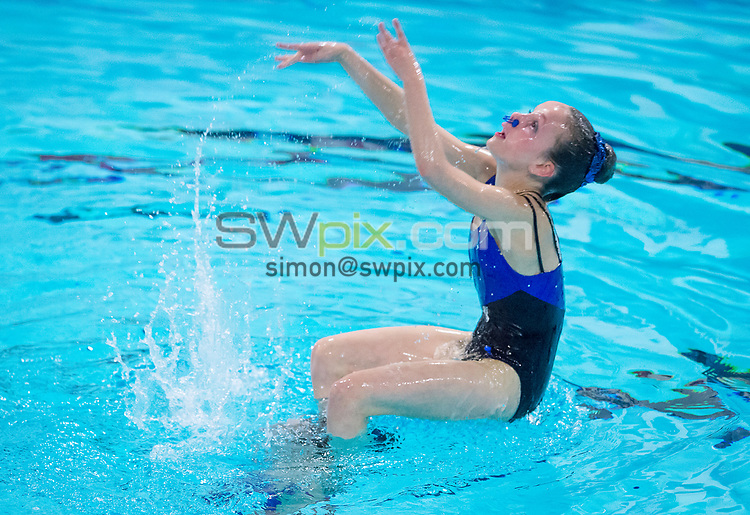 Picture by Allan McKenzie/SWpix.com - 25/11/2017 - Swimming - Swim England Synchronised Swimming National Age Group Championships 2017 - GL1 Leisure Centre, Gloucester, England - Abbey Jelf-Barrow.