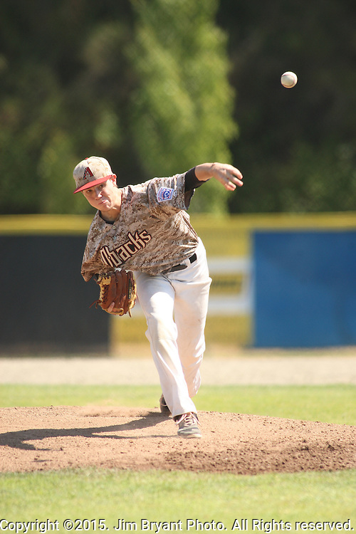 Arizona vs. Hawaii game 11 of the 2015 West Central District 2 BLBB playoffs at Blue Jacket Stadium in Silverdale Washington. ©2015. Jim Bryant photo. All Rights Reserved.