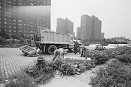 September 1967 --- Workers Picking Up Garbage in New York City --- Image by © JP Laffont