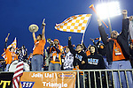 19 April 2014: Carolina fans react to the first goal. The Carolina RailHawks played the Fort Lauderdale Strikers at WakeMed Stadium in Cary, North Carolina in a 2014 North American Soccer League Spring Season match. Carolina won the game 4-1.