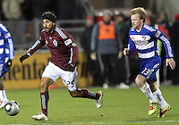 Dax McCarty#13 of FC Dallas chases after Pablo Mastroeni#25 of the Colorado Rapids during MLS Cup 2010 at BMO Stadium in Toronto, Ontario on November 21 2010. Colorado won 2-1 in overtime.
