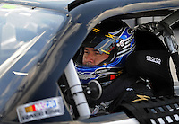 Aug. 7, 2009; Watkins Glen, NY, USA; NASCAR Sprint Cup Series driver P.J. Jones during qualifying for the Heluva Good at the Glen. Mandatory Credit: Mark J. Rebilas-