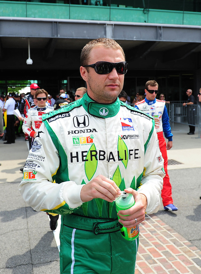 May 24, 2009; Indianapolis, IN, USA; IRL driver Townsend Bell during the 93rd running of the Indianapolis 500 at Indianapolis Motor Speedway.  Mandatory Credit: Mark J. Rebilas-