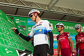 6th September 2017, Mansfield, England; OVO Energy Tour of Britain Cycling; Stage 4, Mansfield to Newark-On-Trent;  Team Katusha-Alpecin rider Alex Kristoff completes registration sign-in at Mansfield