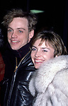 Mark Hamill and wife Marilou York on February 1, 1985 in New York City.