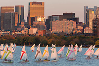 sailing race, MIT, skyline, Boston, MA