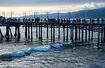 People walking on the Santa Monica Pier in Los Angeles, CA
