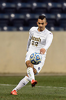 Notre Dame Fighting Irish defender Luke Mishu (22). The Notre Dame Fighting Irish defeated the Maryland Terrapins 2-1 during the championship match of the division 1 2013 NCAA  Men's Soccer College Cup at PPL Park in Chester, PA, on December 15, 2013.