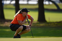 Caroline Hedwall (SWE) lines up her putt on 1 during round 1 of the 2019 US Women's Open, Charleston Country Club, Charleston, South Carolina,  USA. 5/30/2019.<br /> Picture: Golffile | Ken Murray<br /> <br /> All photo usage must carry mandatory copyright credit (© Golffile | Ken Murray)
