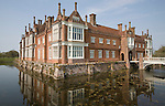 Helmingham Hall an historic moated manor house in Helmingham, Suffolk, England with origins from 1480 owned by the Tollemache family ever since.