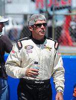 Apr 25, 2009; Talladega, AL, USA; NASCAR Nationwide Series driver Mark Green prior to the Aarons 312 at the Talladega Superspeedway. Mandatory Credit: Mark J. Rebilas-