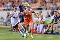 Houston, TX - Thursday Aug. 18, 2016: Ali Krieger, Kealia Ohai during a regular season National Women's Soccer League (NWSL) match between the Houston Dash and the Washington Spirit at BBVA Compass Stadium.