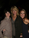 "OLTL's Eddie Alderson ""Matthew Buchanan"" & Kristen Alderson ""Starr Manning"" with their mom Kathy at An Intimate Evening with Broadway and Daytime Stars entertaining with songs to benefit the Jane Elissa/Charlotte Meyers Endowment Fund for Leukemia/Lymphoma Research and other charitable causes on October 20, 2008 at the New York Marriott Marquis Hotel, New York City, NY. (Photo by Sue Coflin)"