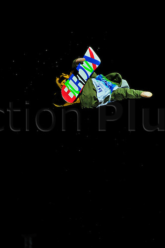 17th February 2010, Day6, Vancouver Winter Olympics. Mens Snowboard Halfpipe. Kazihiro KOKUBO (JPN) in action. Photo: Peter Blakeman/Actionplus. Editorial Licenses Only..