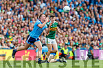 Ciaran Kilkenny, Dublin in action against Sean O'Shea, Kerry during the GAA Football All-Ireland Senior Championship Final match between Kerry and Dublin at Croke Park in Dublin on Sunday.