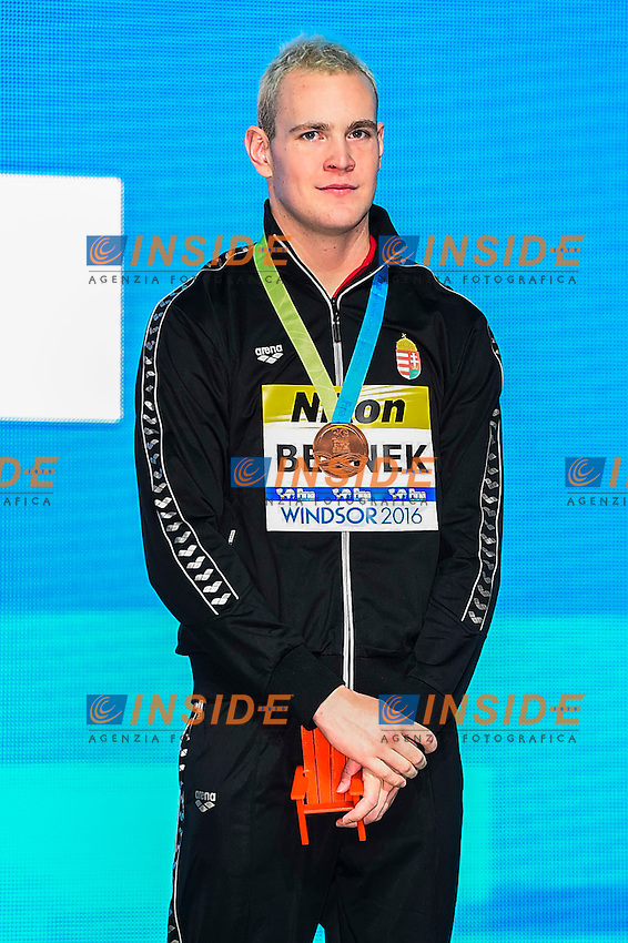 BERNEK Peter HUN Bronze Medal<br /> Men's Freestyle 400m<br /> 13th Fina World Swimming Championships 25m <br /> Windsor  Dec. 6th, 2016 - Day01 Finals<br /> WFCU Centre - Windsor Ontario Canada CAN <br /> 20161206 WFCU Centre - Windsor Ontario Canada CAN <br /> Photo &copy; Giorgio Scala/Deepbluemedia/Insidefoto