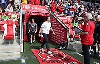 Fleetwood Town manager Joey Barton makes his first appearance at the Highbury Stadium<br /> <br /> Photographer Stephen White/CameraSport<br /> <br /> The EFL Sky Bet League One - Fleetwood Town v AFC Wimbledon - Saturday 4th August 2018 - Highbury Stadium - Fleetwood<br /> <br /> World Copyright &copy; 2018 CameraSport. All rights reserved. 43 Linden Ave. Countesthorpe. Leicester. England. LE8 5PG - Tel: +44 (0) 116 277 4147 - admin@camerasport.com - www.camerasport.com