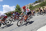 Alex Kirsch (LUX) Trek-Segafredo descends during Stage 2 of La Vuelta 2019 running 199.6km from Benidorm to Calpe, Spain. 25th August 2019.<br /> Picture: Luis Angel Gomez/Photogomezsport | Cyclefile<br /> <br /> All photos usage must carry mandatory copyright credit (© Cyclefile | Luis Angel Gomez/Photogomezsport)